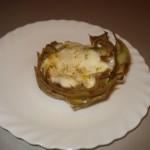 Carciofo ripienod i mozzarella