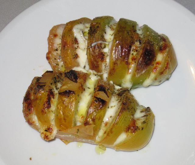 pomodori ripieni con mozzarella gratinati
