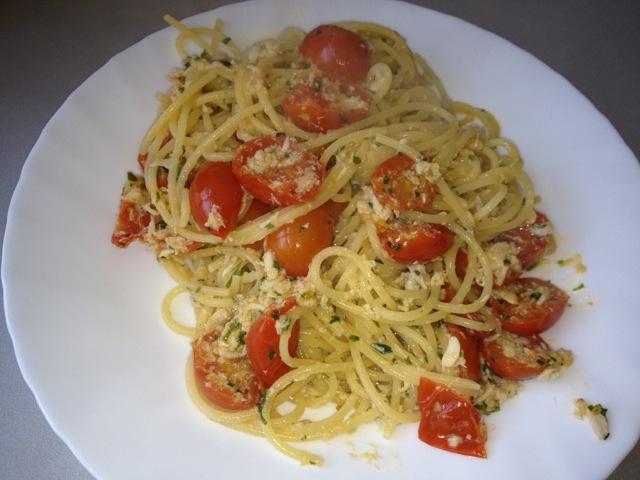 spaghetti alla polpa di granchio