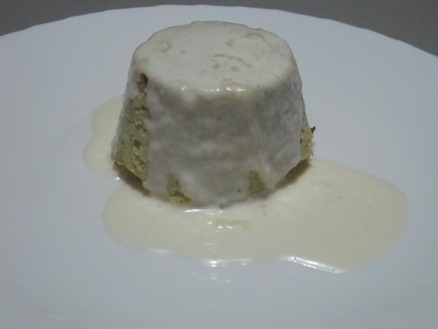 Sformato di broccolo romanesco con fonduta di parmigiano reggiano
