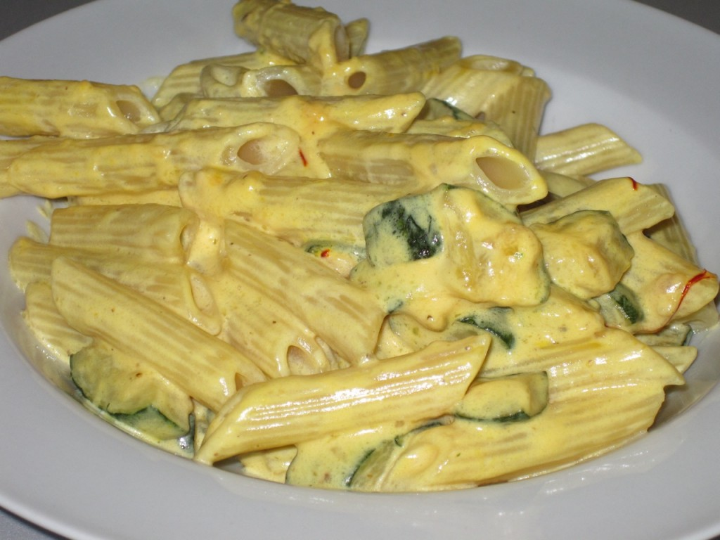 Ricetta Pasta Zucchine E Zafferano.Penne Con Zucchine E Zafferano Chez Fabio